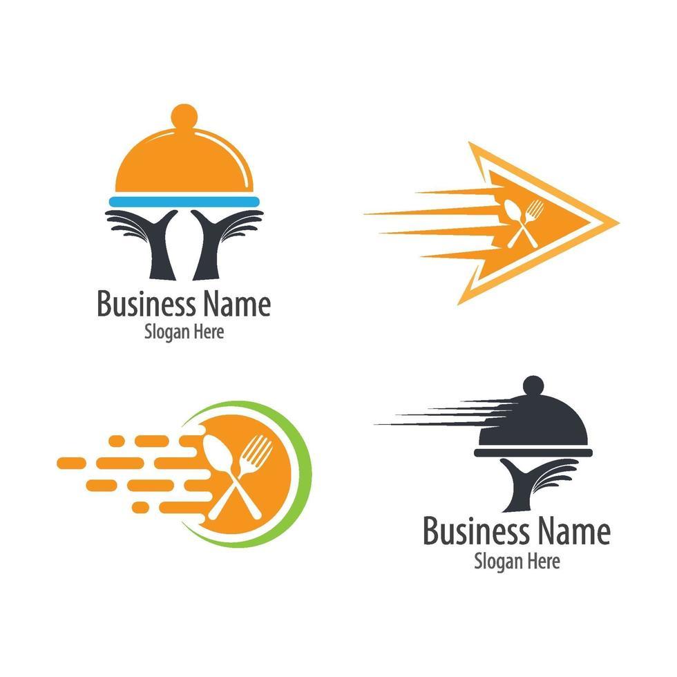 Lebensmittel Lieferung Logo Bilder Illustration vektor