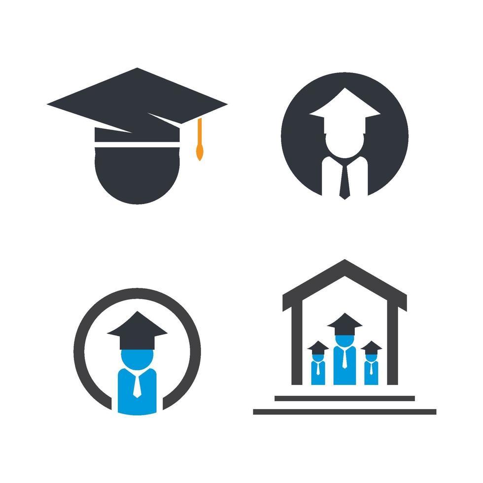 utbildning logotyp design vektor