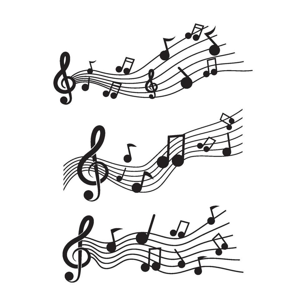 musiklogotypbilder vektor