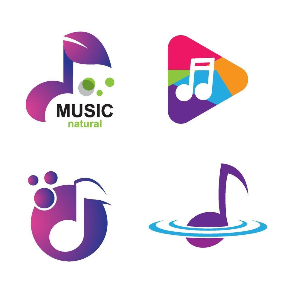 Musiklogo Bilder vektor