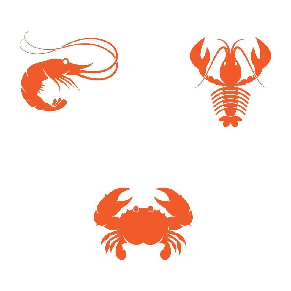 Garnelen Logo Bilder Illustration vektor