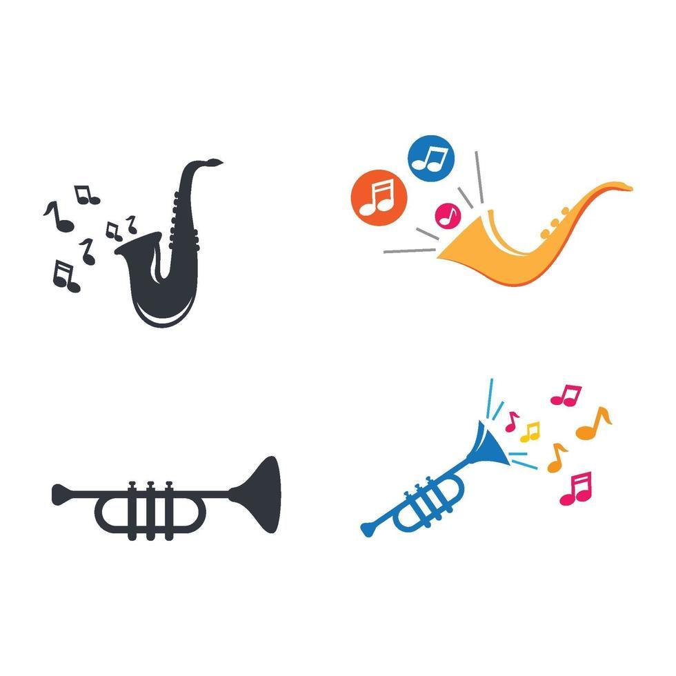 Jazz Musik Logo Bilder Illustration vektor