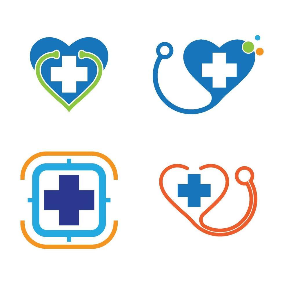 medicinsk vård logotyp bilder vektor