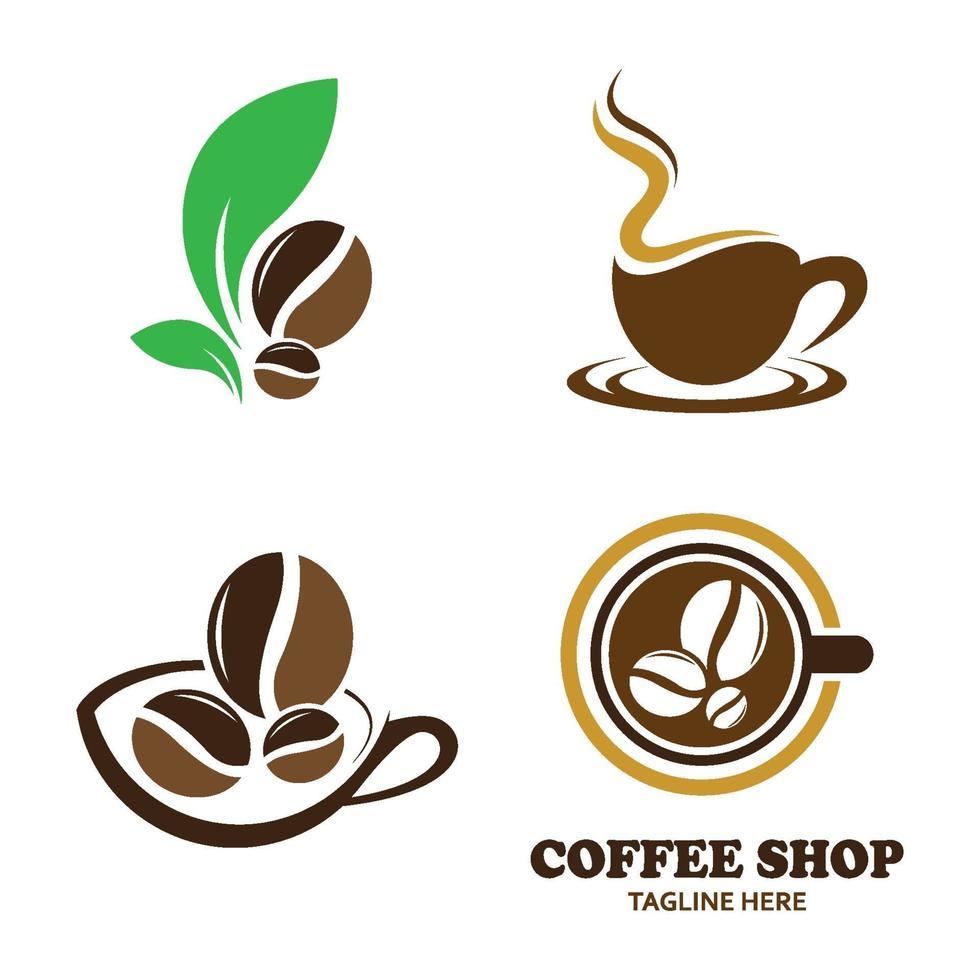 kafé logotyp bilder vektor