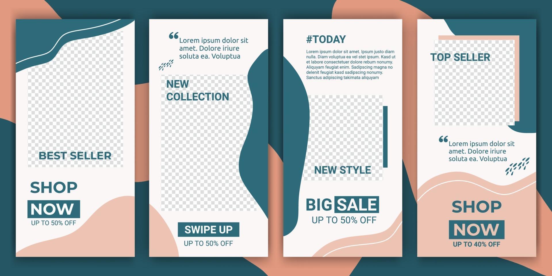 sociala medier ram ange bakgrundsmall med rosa pastell och blå vätska enkel elegant minimalistisk stil. design bakgrunder för sociala medier. vektor illustration