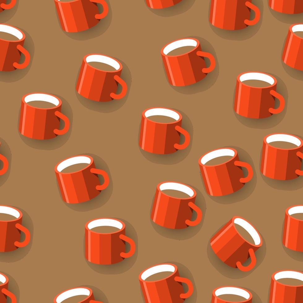 sömlös bakgrundsmönster kaffemugg. platt design illustrationer. vektor illustrera.