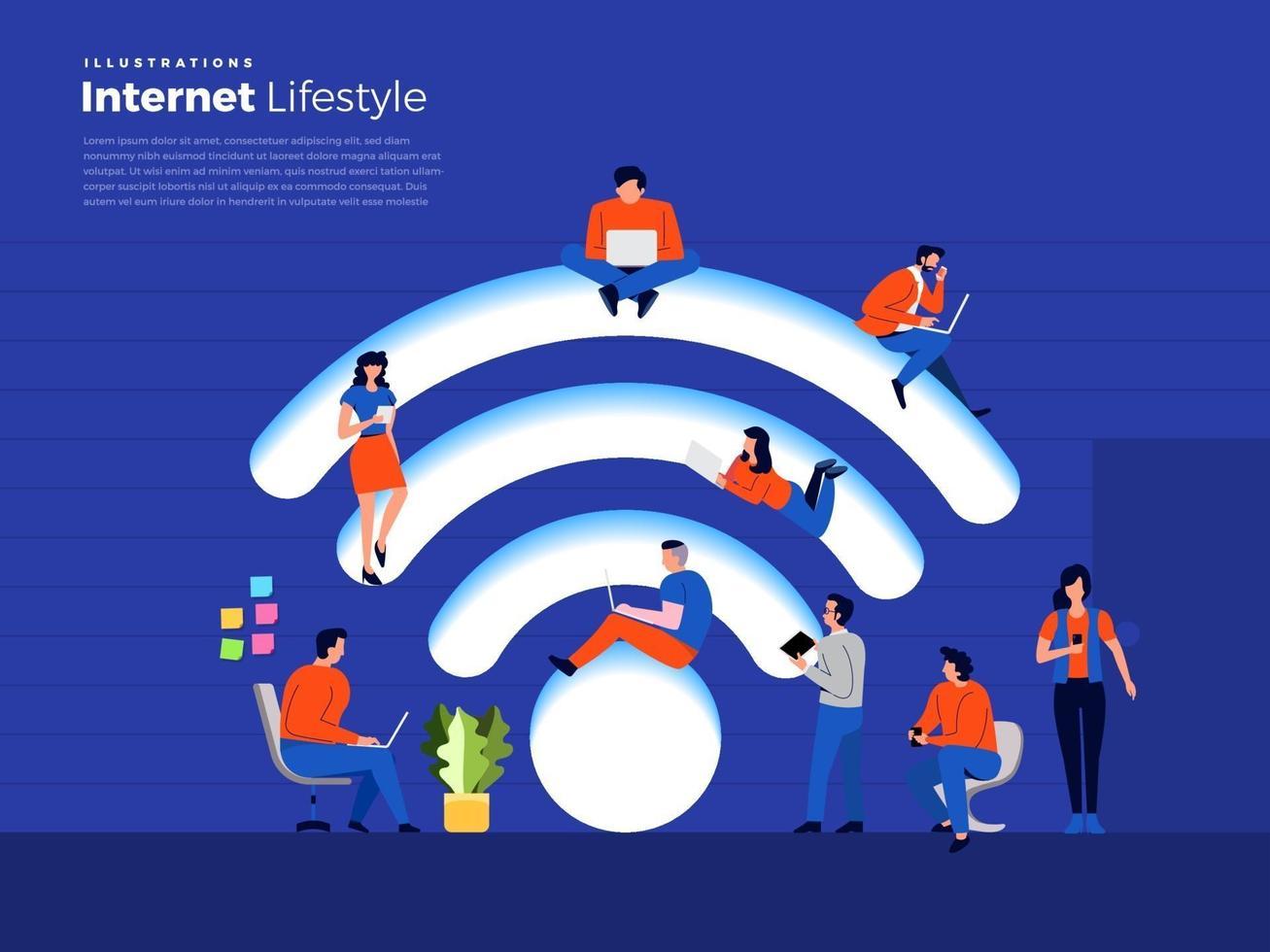 livsstil internetanvändare vektor