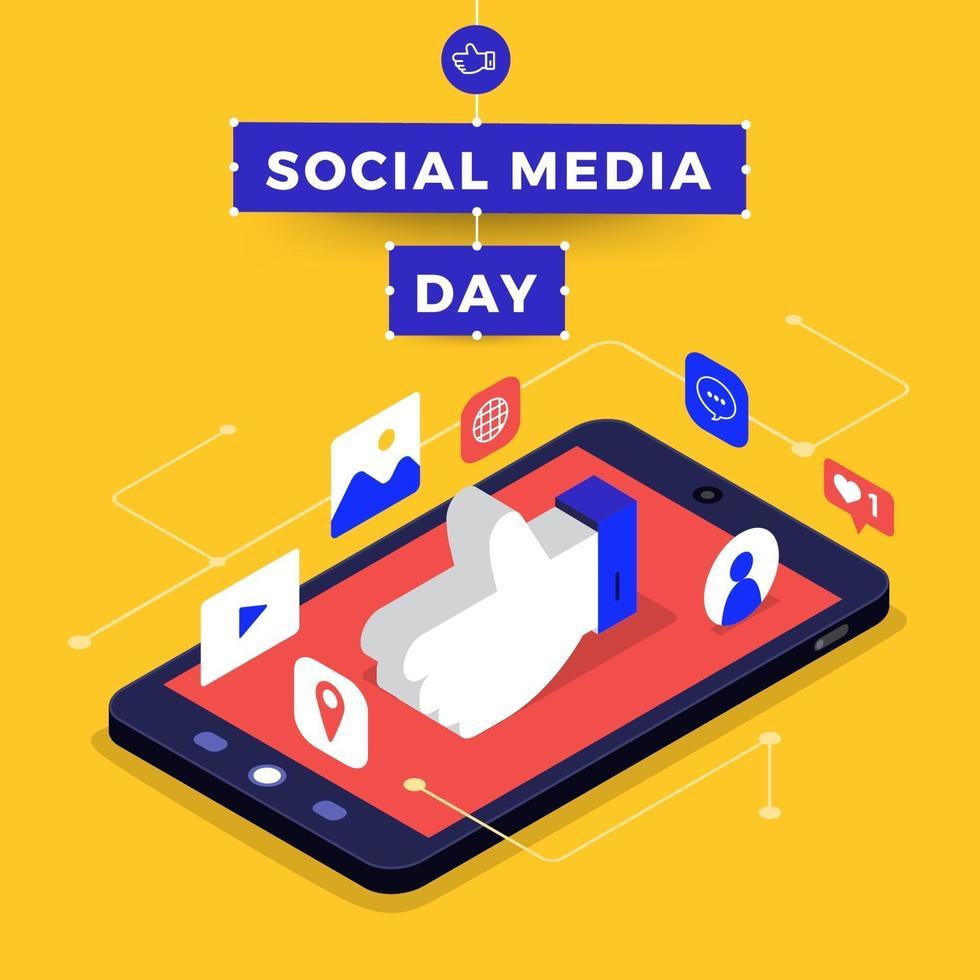 sociala medier dag vektor