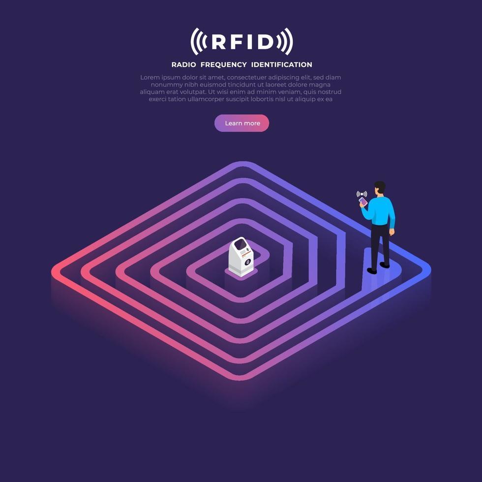 rfid illustration vektor