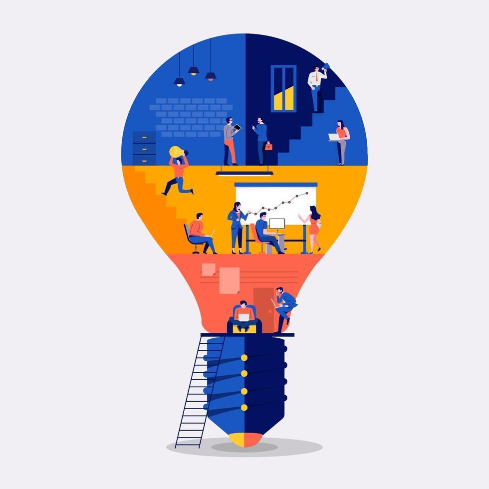 arbetsplats skapa idé vektor