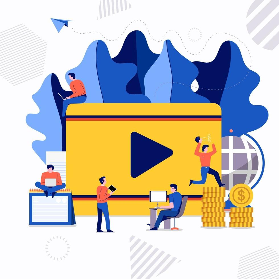 lagarbete video skapare vektor