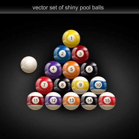 glänsande poolboll vektor