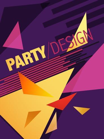 abstrakte Partei Broschüre Design vektor