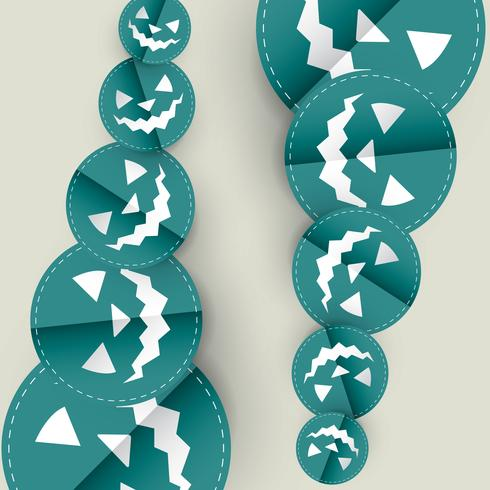 blå halloween design vektor