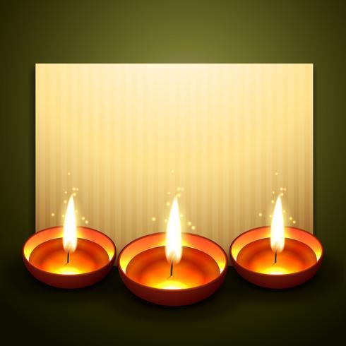 schöner Diwali-Gruß vektor