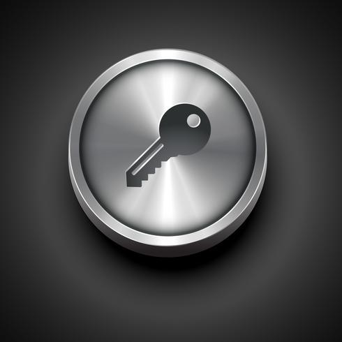 metallic key icon vektor