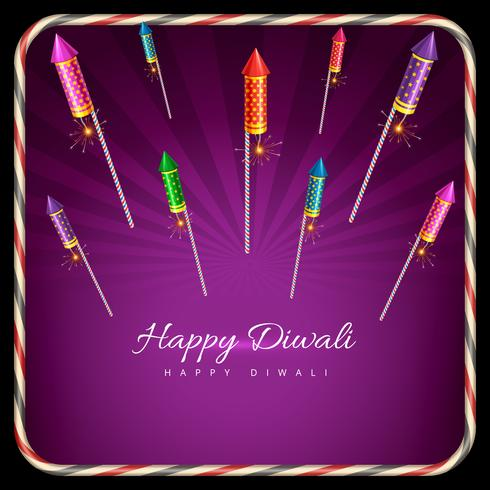 Stilvoller Hintergrund von Diwali vektor