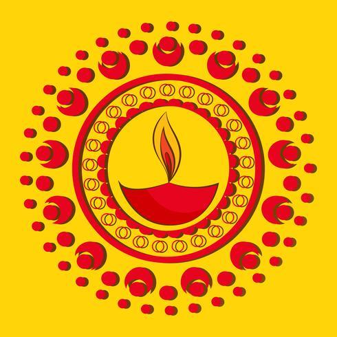 künstlerischer hintergrund von diwali vektor