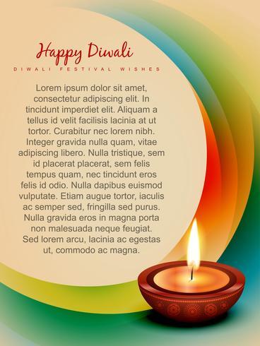 Diwali-Hintergrund vektor
