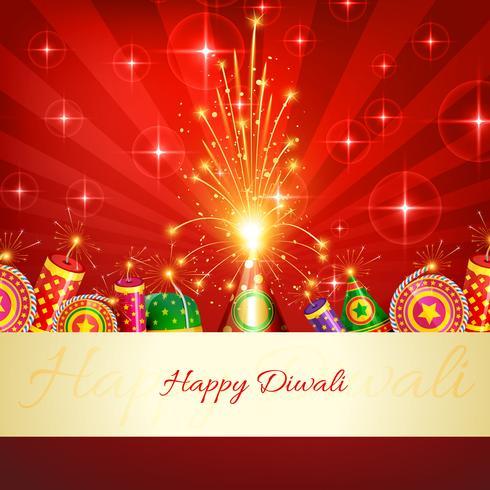 Diwali-Cracker-Hintergrund vektor
