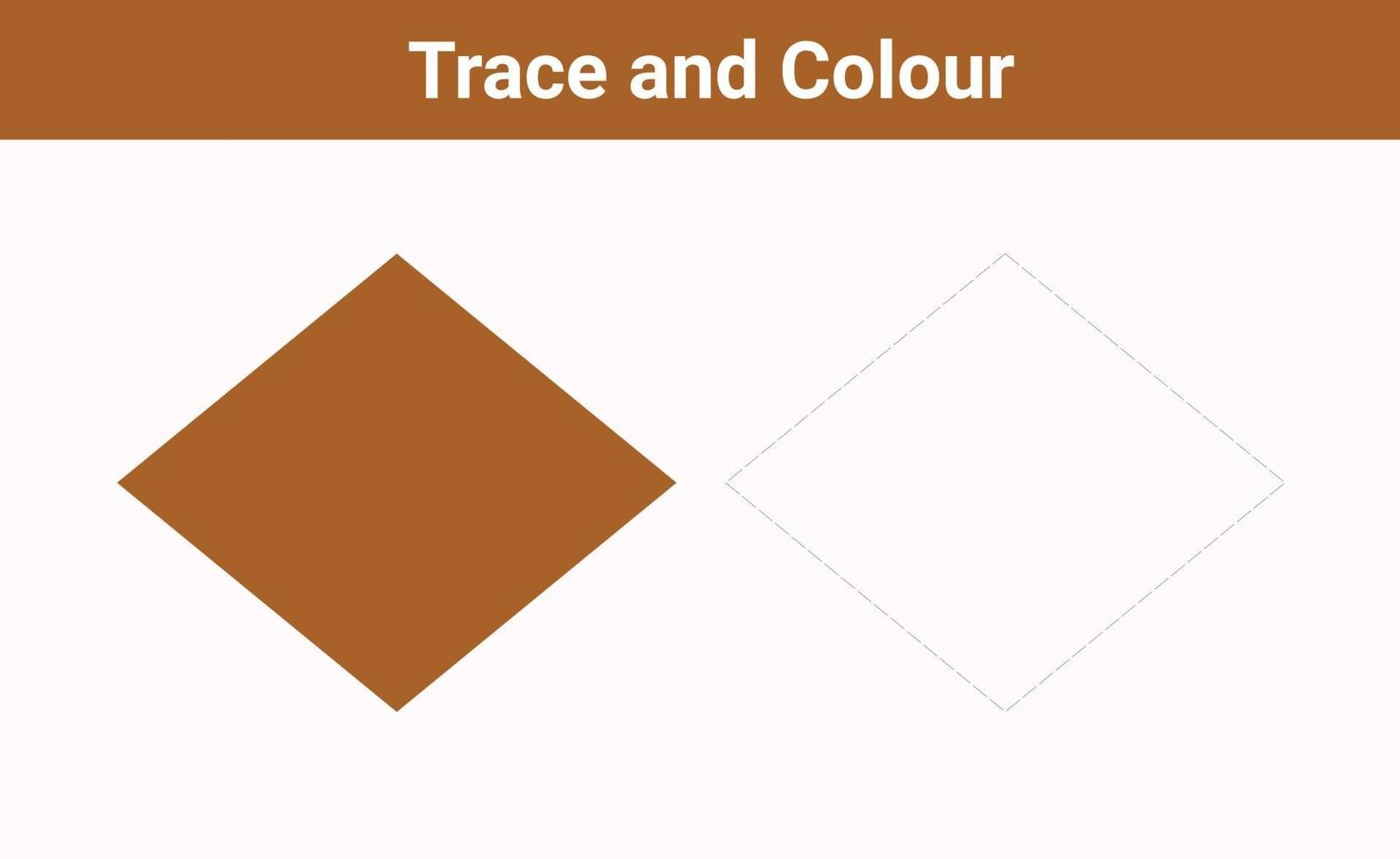 Spur und Farbe Raute frei Vektor