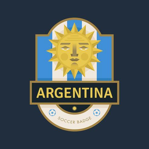Argentinien WM Fußball-Abzeichen vektor