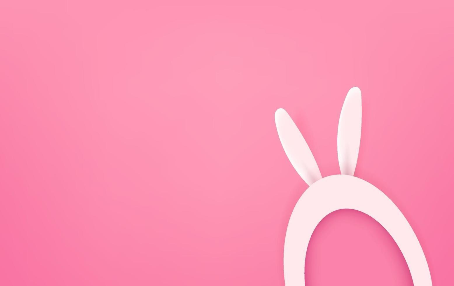 glad påsk vektor gratulationskort frestar med kopia utrymme. söt cutout stil vektorillustration