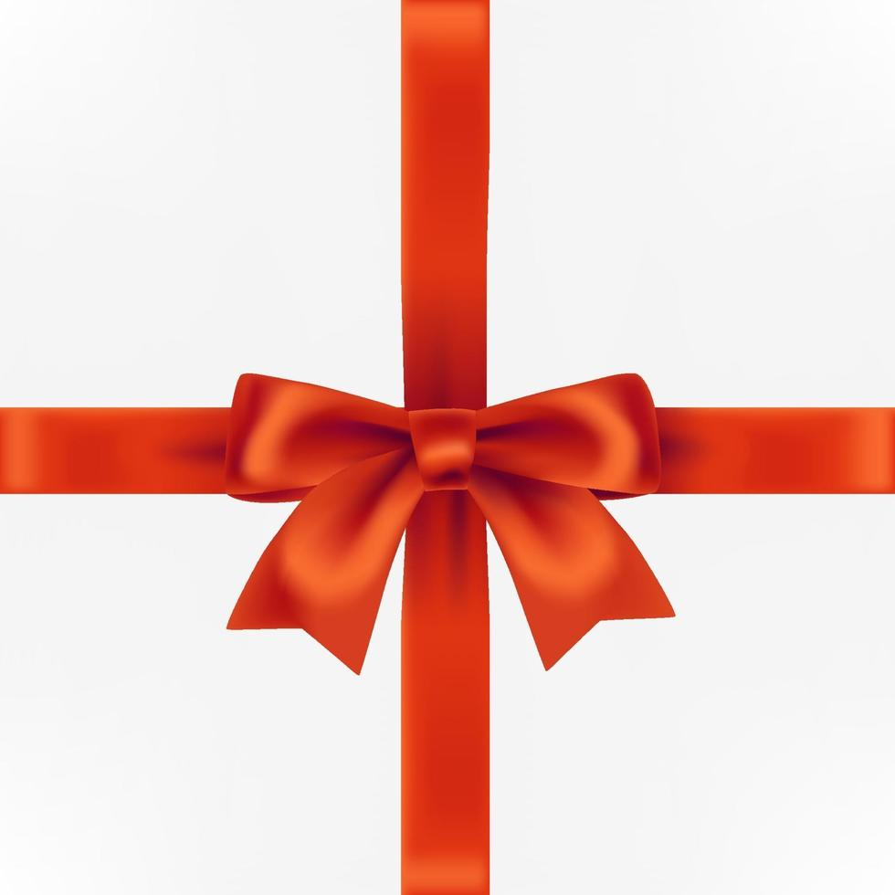Geschenkbox mit roter Zierschleife vektor