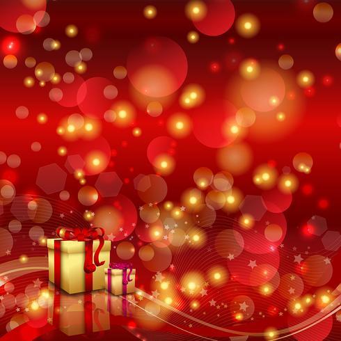 Jul bakgrund med presenter vektor