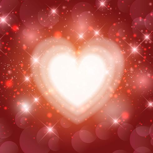 Alla hjärtans dag hjärta bakgrund vektor