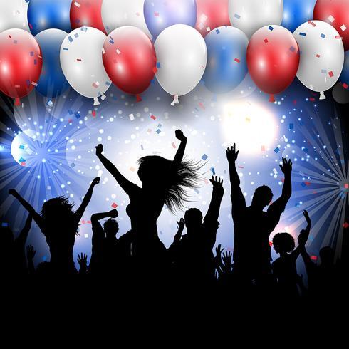 4 juli självständighetsdag parti bakgrund vektor