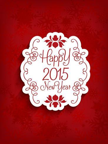Dekorativer guten Rutsch ins Neue Jahr-Hintergrund vektor