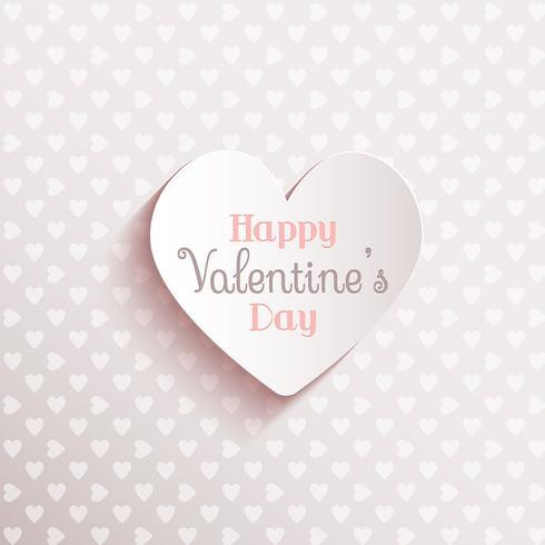 Lycklig Alla hjärtans dag bakgrund vektor