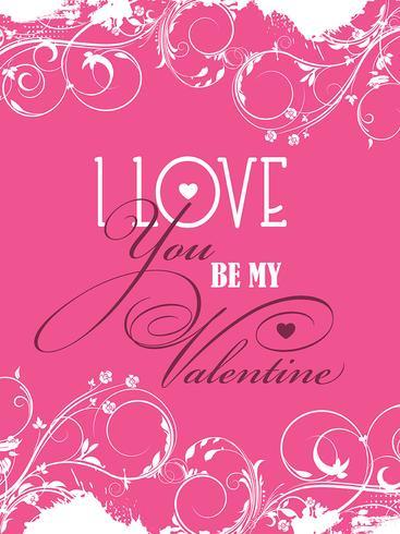 Sei mein Valentinstag Hintergrund vektor