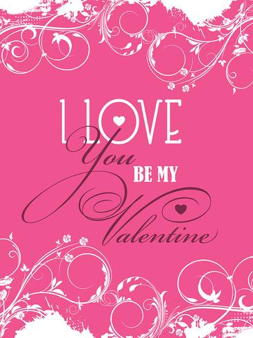 Var min Valentine bakgrund vektor