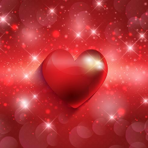 Valentins hjärta bakgrund vektor