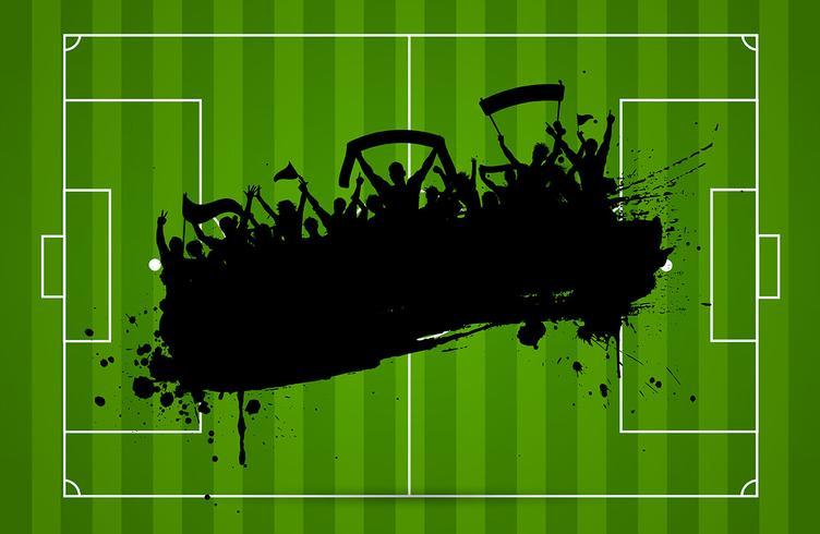 Fußball oder Fußball Hintergrund vektor