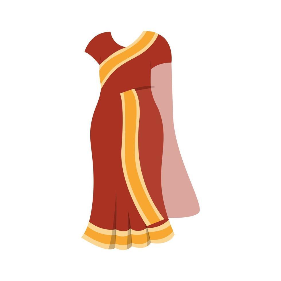 indisk sari-klänning vektor