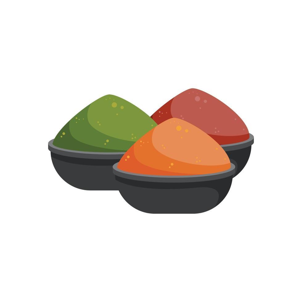 indiska kryddor skålar vektor