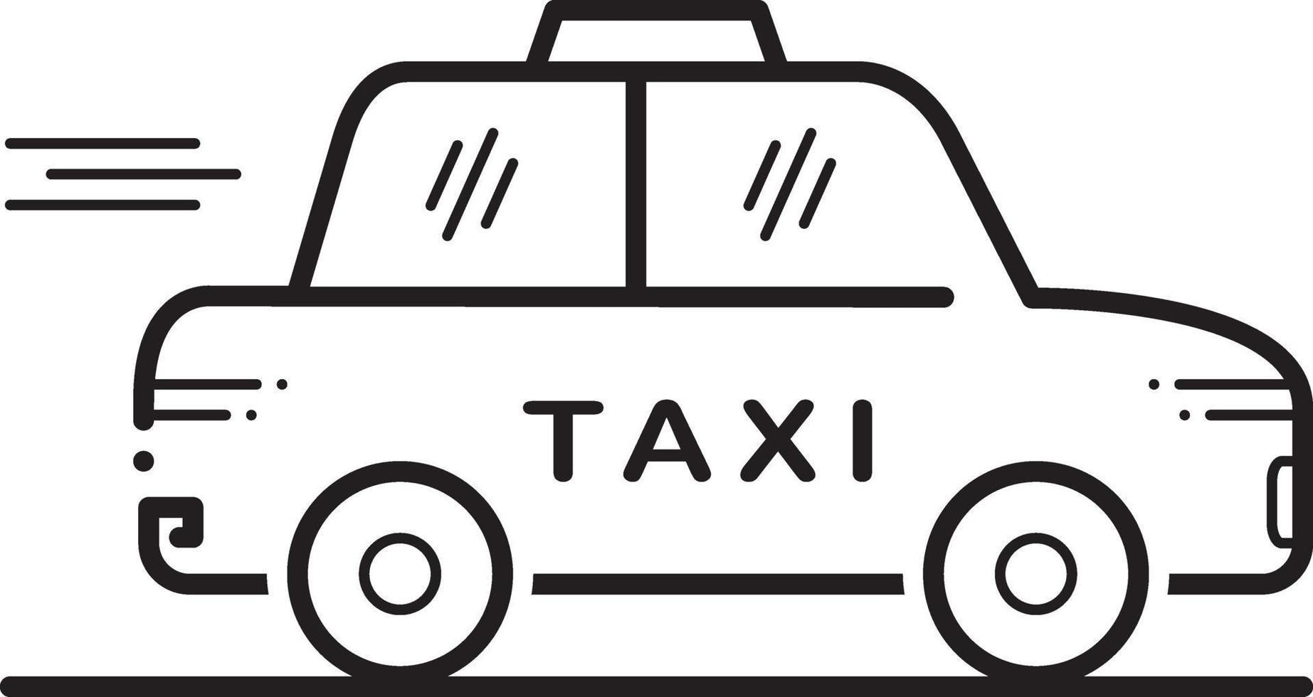 linje ikon för taxi vektor