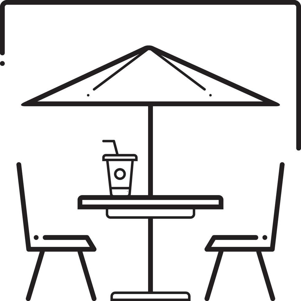 linje ikon för uteservering vektor