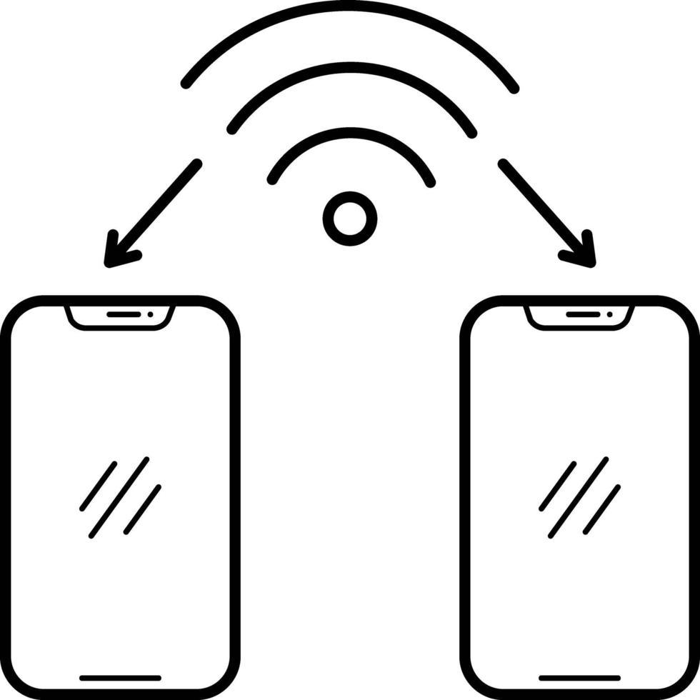 linje-ikon för wifi-anslutning vektor