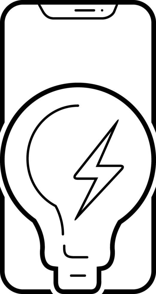 linje ikon för kraft vektor