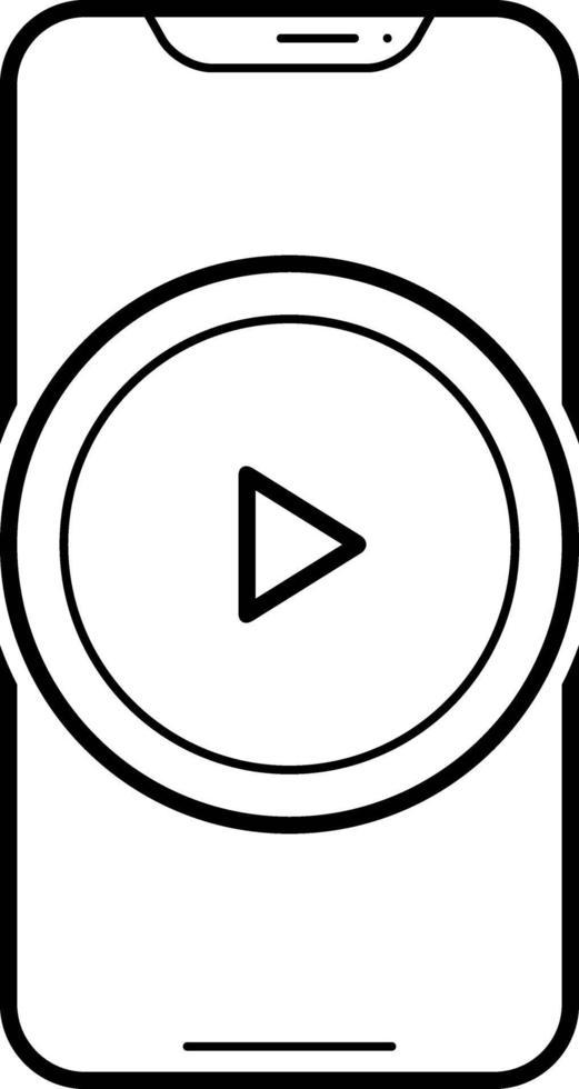 radikon för videoapp vektor