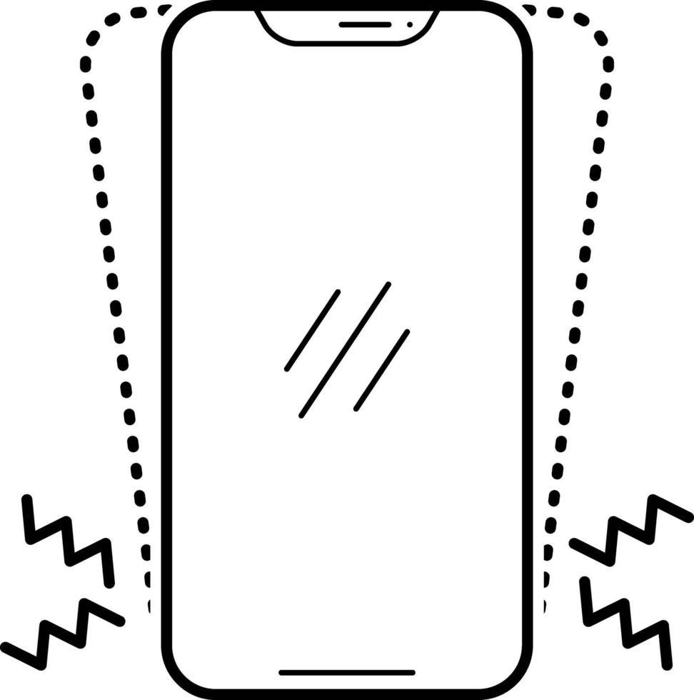 linje ikon för vibrationer vektor