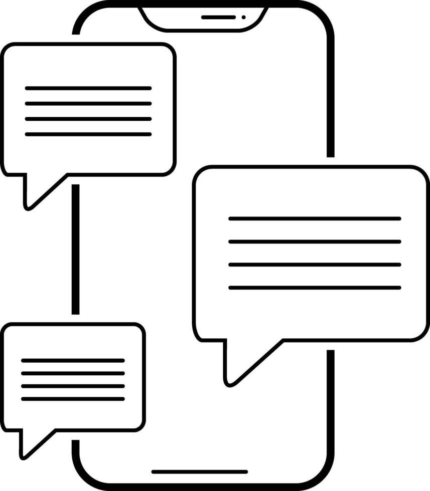 radikon för meddelandeprogram vektor