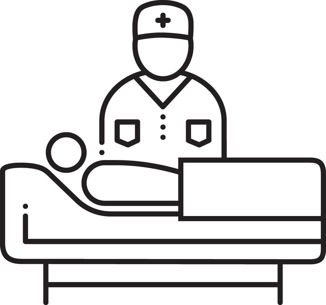 linje ikon för medicinsk support vektor