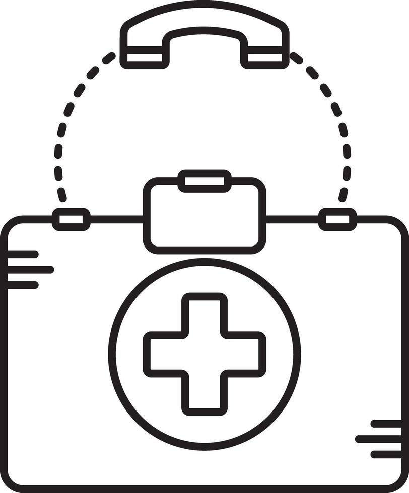 linje ikon för medicinsk hjälp vektor