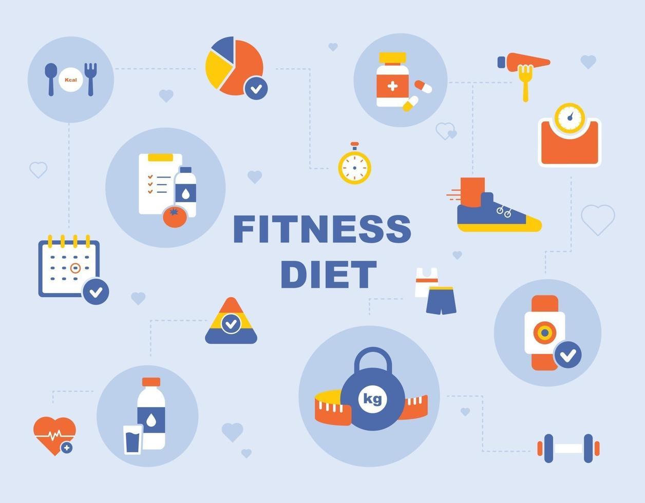 fitness ikon affisch. platt designstil minimal vektorillustration. vektor