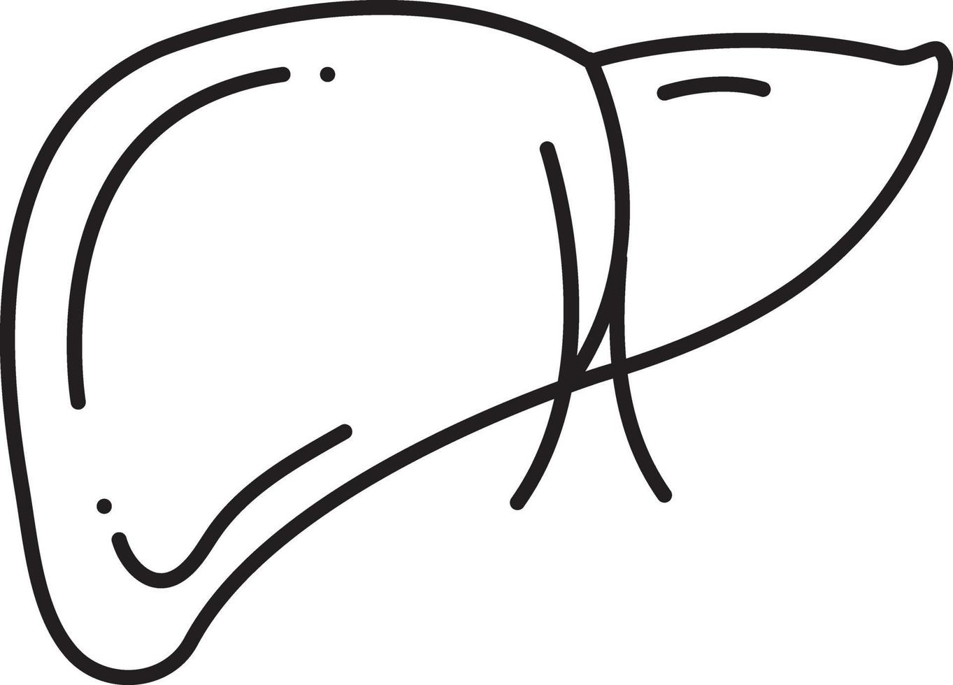 linje ikon för hepatologi vektor